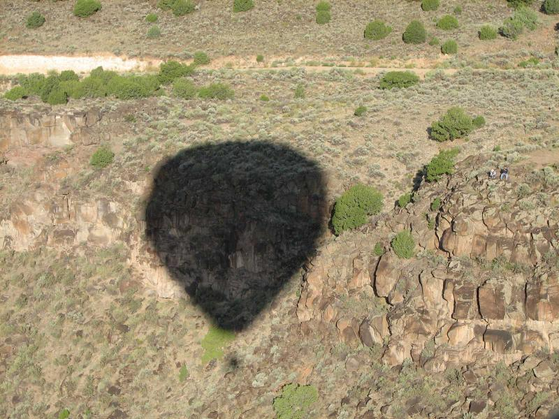 View of Rio Grande Gorge from hot air balloon