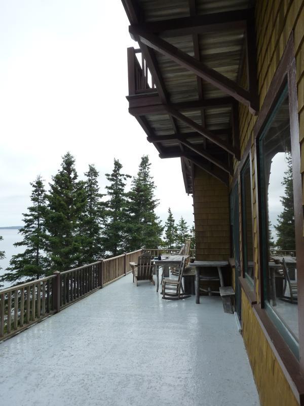 Wraparound veranda met uitzicht