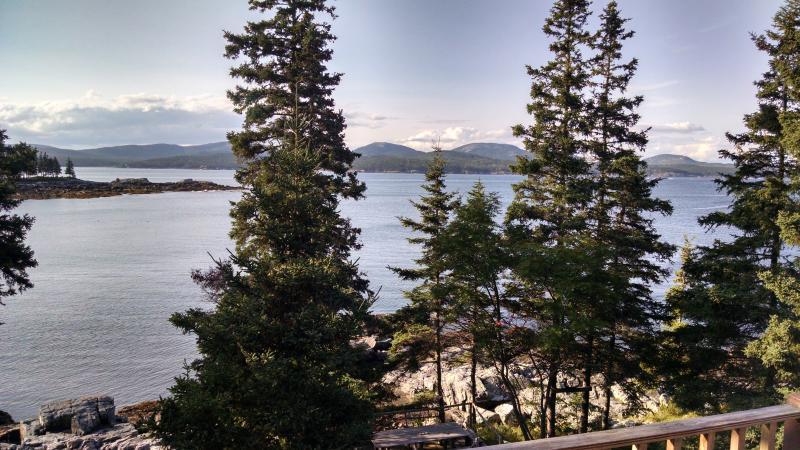 Acadia Parish en zonsondergang uitzicht