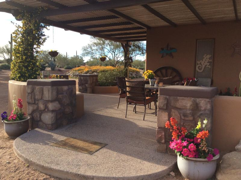 Enjoy a glass of wine on your private patio
