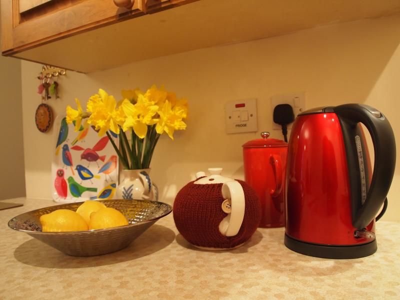 All you need for a hot drink on arrival