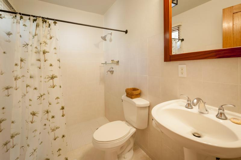 Private lower ensuite with hot shower