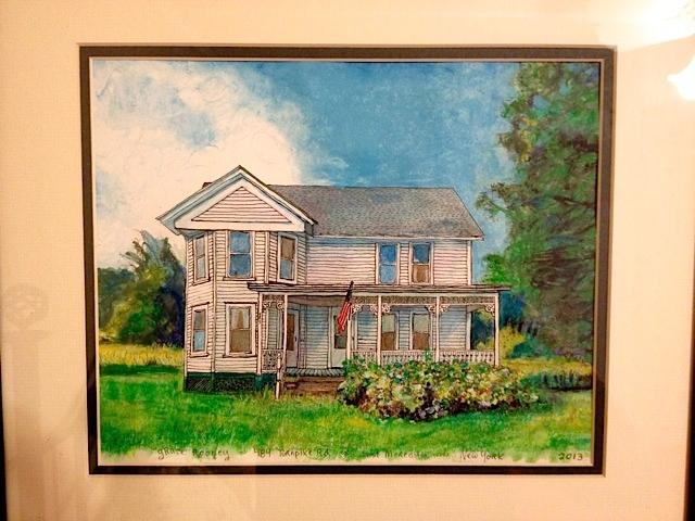 water color of 'Grace House' painted by local Massachusetts artist,  Elaine Corda