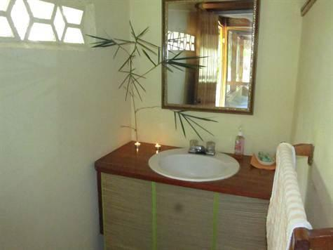 Large Bathroom with shower off Veranda- perfect when you return from a day at the beach