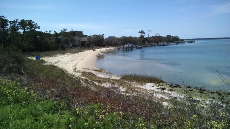 Harkers Island's pretty little beach!
