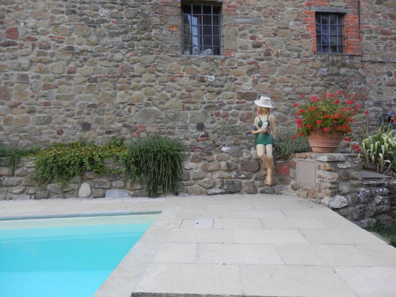 Casa il Mandorlo private garden - pool, holiday rental in Gaiole in Chianti