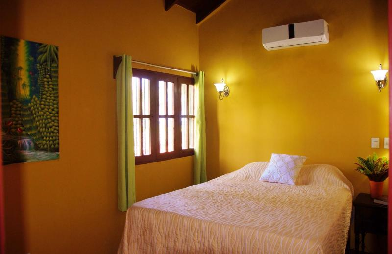 Bedroom 4: is also air conditioned and has a good quality queen-sized  mattress and good bedding,