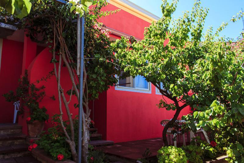 Facade with garden