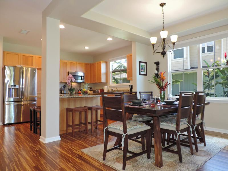 Dining and Kitchen.