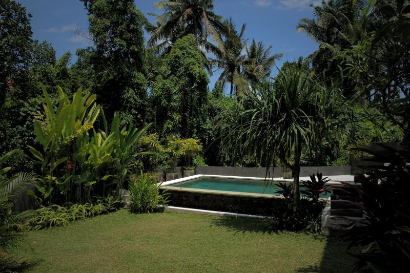 Luscious garden with private pool