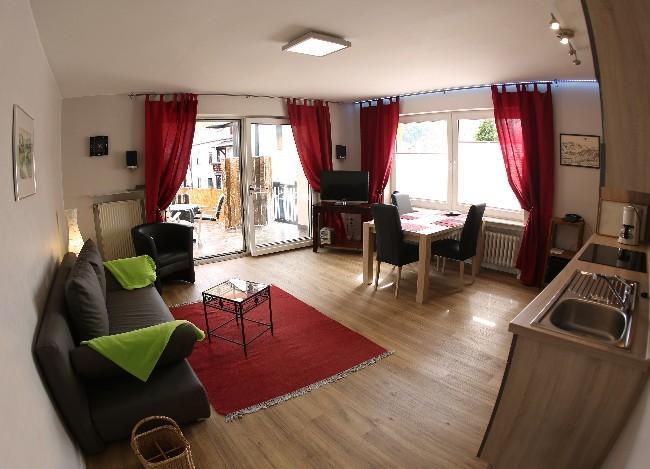 Apartamento 'Paraíso' = sala de estar/cozinha