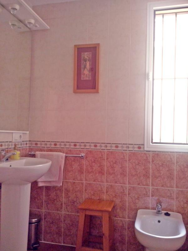 Amplio baño y muy luminoso.