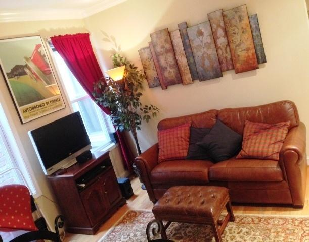 Completely Furnished 1BR/1BA   Apartment with outdoor deck in the Adadms Morgan neighborhood of D.C.