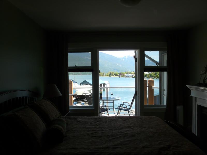 Master bedroom to deck