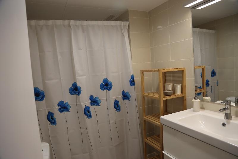 Douche et lavabo WC