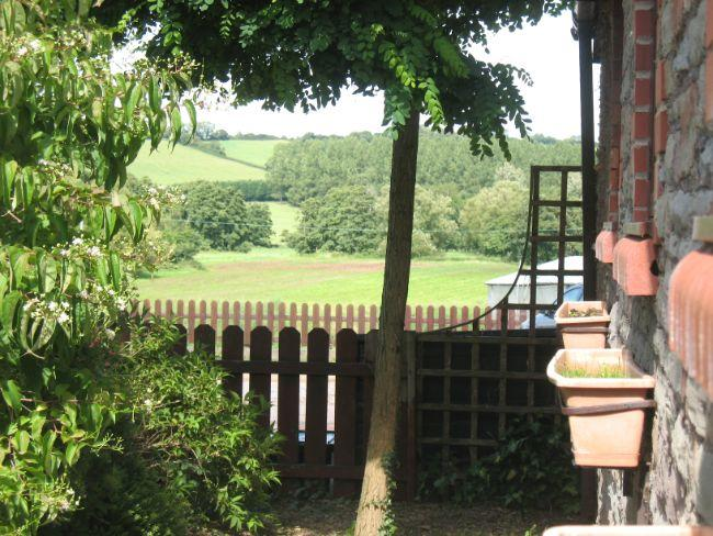 Views over the countryside from the cottage