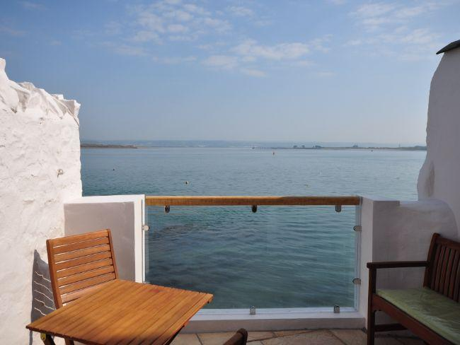 Enjoy uninterrupted sea views from the patio