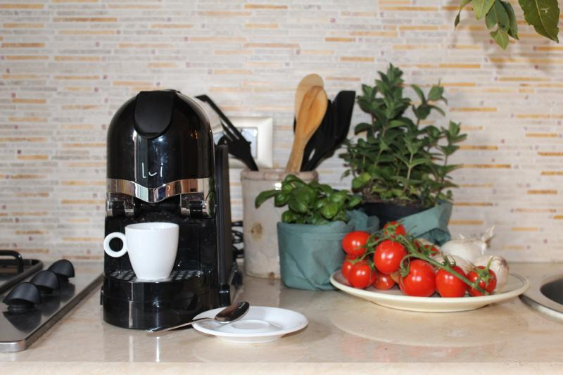 The house has everything you need, also a coffee machine with capsules