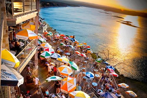 restaurante para vistas incríveis do sol Oasis Perto