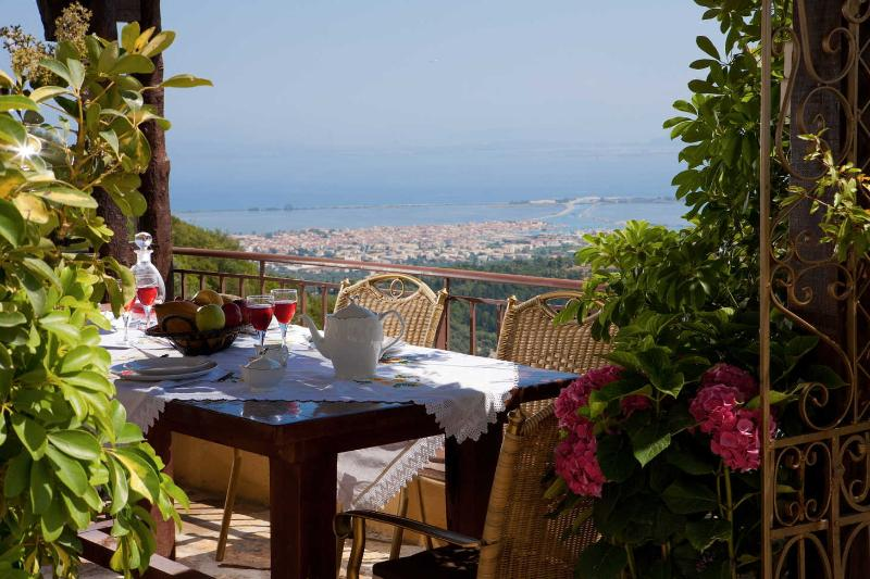 Enjoy the stunning view of Lefkada while taking your breakfast