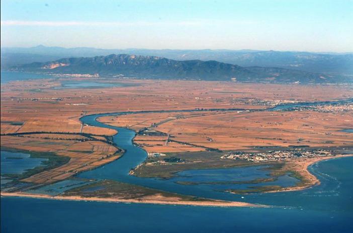 Vista aérea del Delta del Ebro