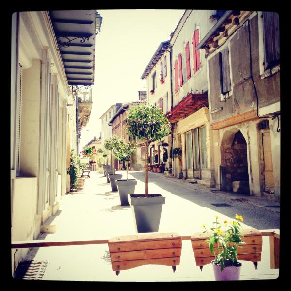 Little French House - Street View, sitting at Restaurant at end of street, house is on left