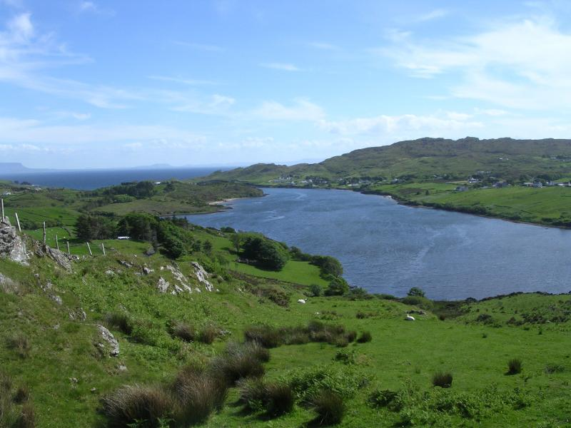 View from grounds: Teelin Bay and Donegal Bay