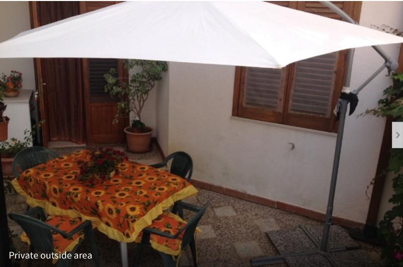 Private external dining area