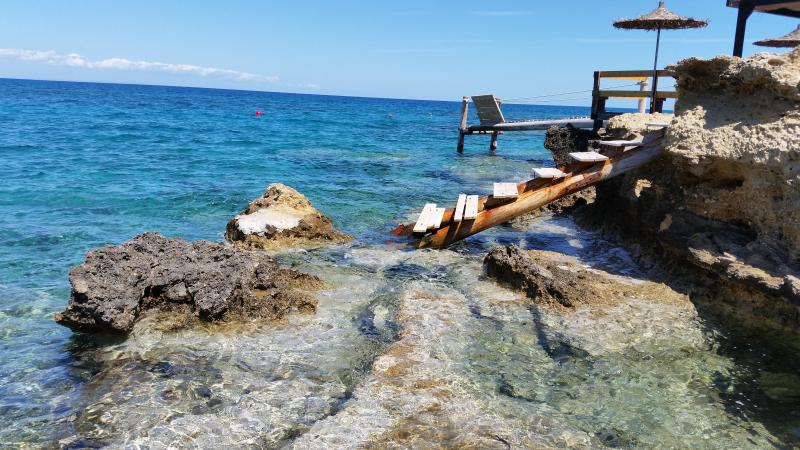350 meters from the house the perfect crystal clear swimming beach in a quite location