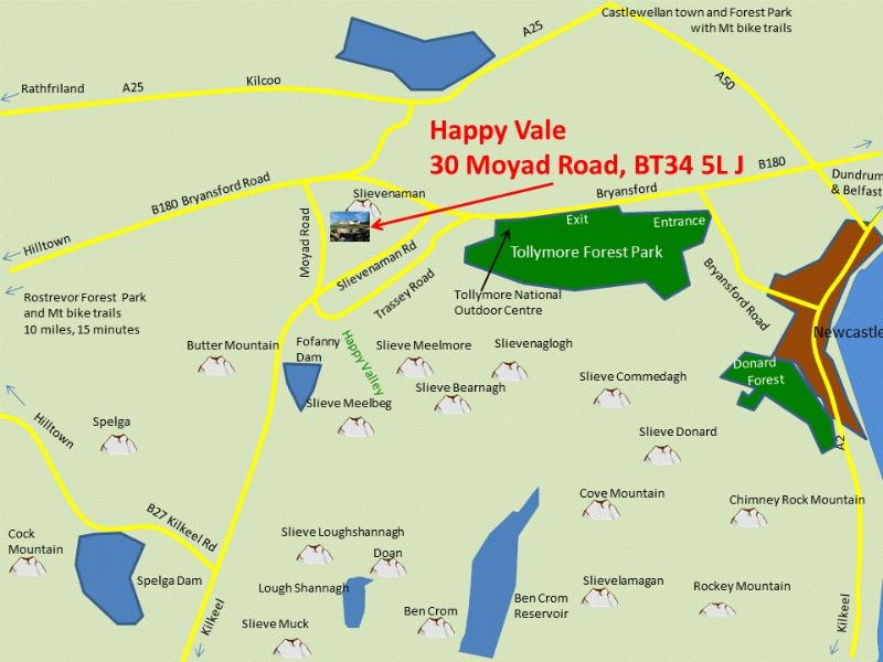 Map showing Happy Vale Location