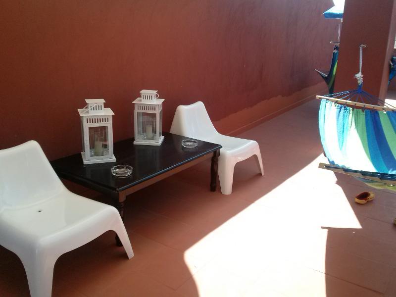 terraza privada del apartamento