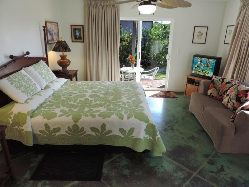Seaside Studio with A/C & Oceanview, holiday rental in Poipu