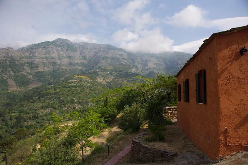 The mountain above the guest house