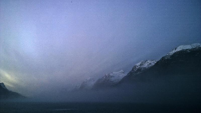 The Ersfjord mountains