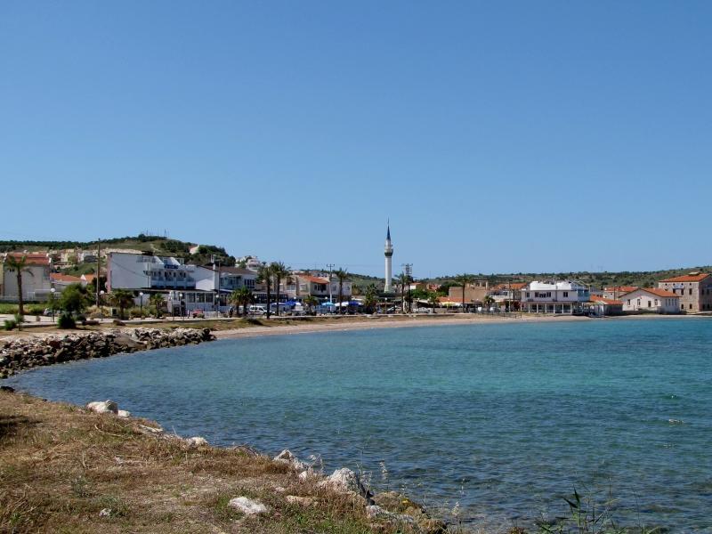 view of village beach, 150m from villa