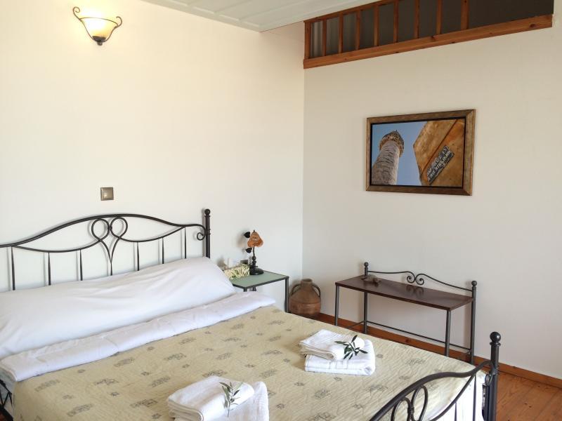 Chambre double En-suite à l'étage mezzanine avec balcon privé et vue sur la mer