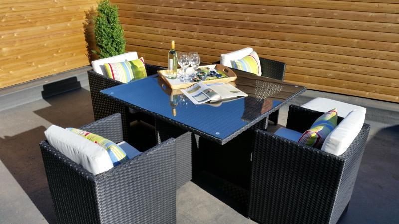 Dine alfresco or just relax on the Roof Top Garden