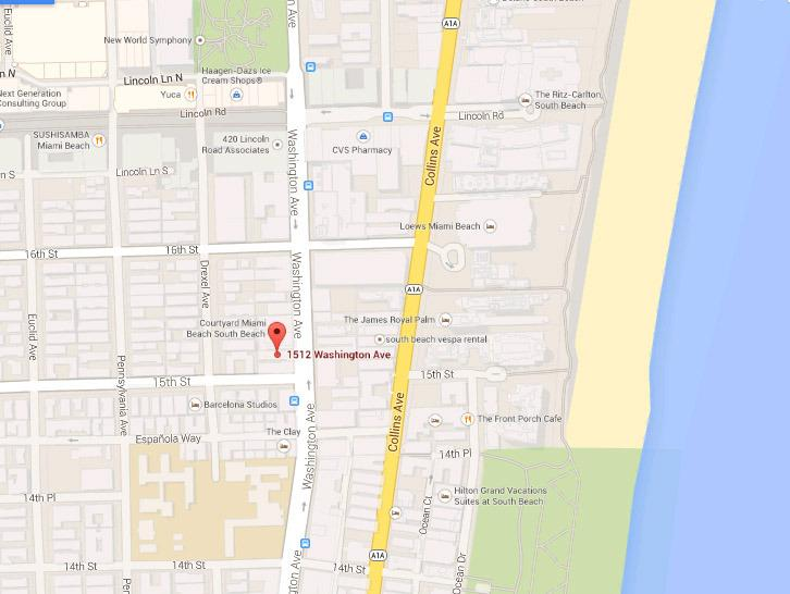 Ideal location: between Lincoln Rd and Epañola way, near Ocean drive and the beach