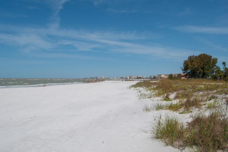 Pasos de la playa.