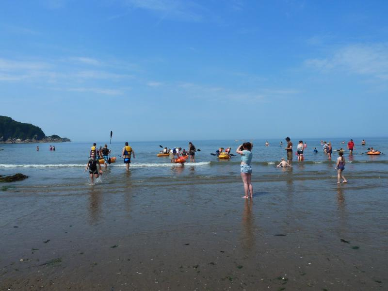 Combe Martin Beach 75yds/ 1 minute walk from Bosun's Cottage