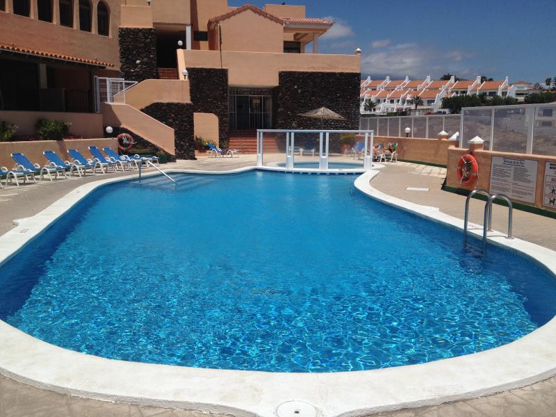 The main, heated swimming pool