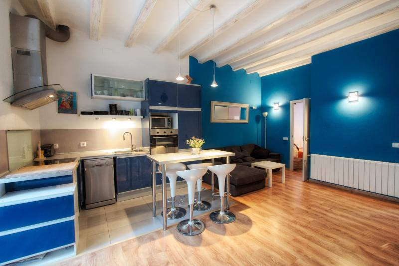 Modern 2 BR, 1 BA loft close to beach, holiday rental in Barcelona