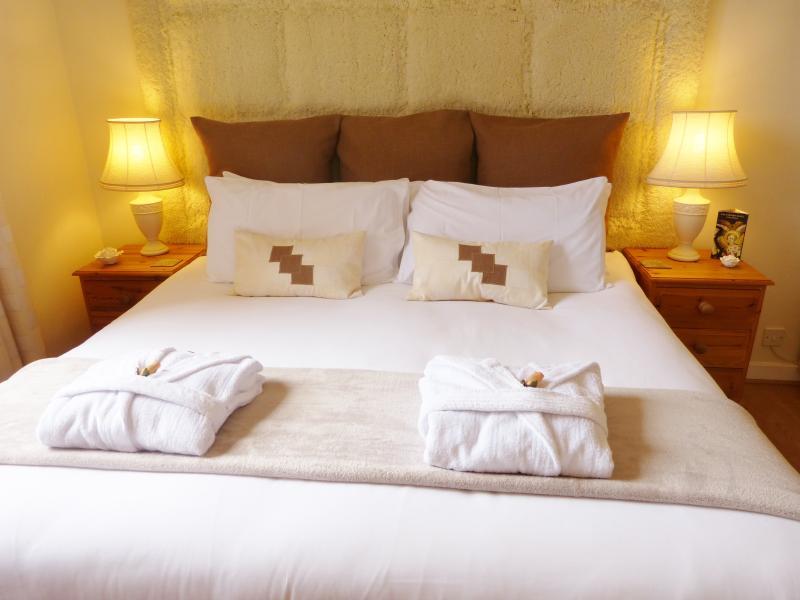 Hotel quality cotton bedding.