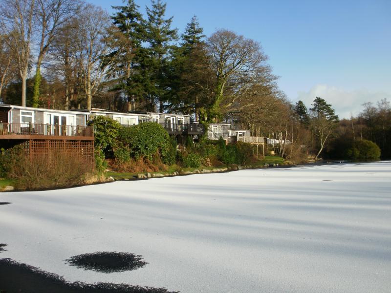 Winter at Glan Gwna Park, Frozen Lake