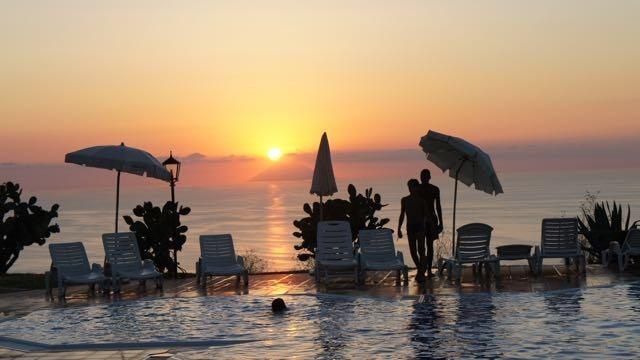 Every evening, sunsets by the pool are absolutely fabulous.