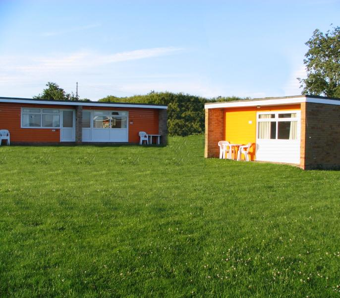 No.156 (left) 5 berth  Sunset Holiday Chalets Florida Park Beach Road Hemsby