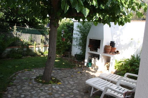 Private rear garden with barbecue