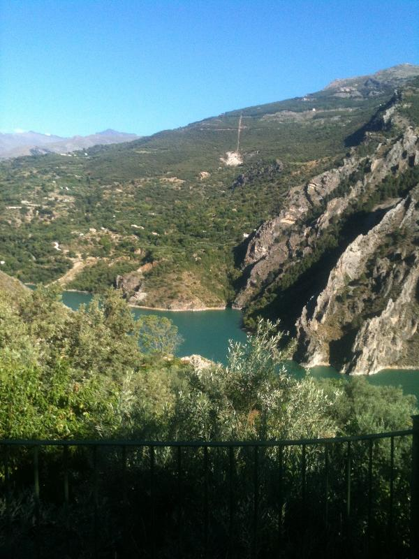 Vista del pantano. Granada