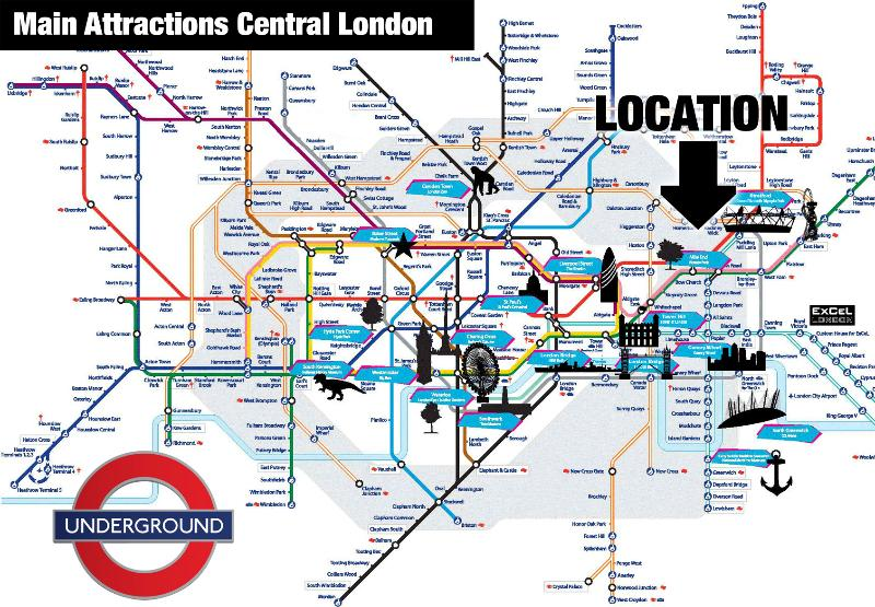 Central London's main attractions by underground.