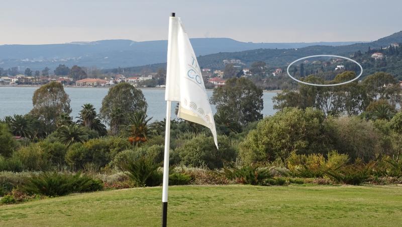 Villa Andreas in Gialova  as seen from the Golfcourse hole nr 6.